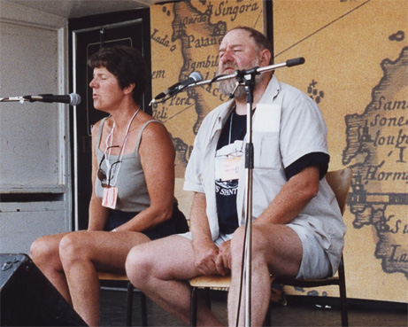 Rika & Jon at the Tall Ships Festival, Stevestown, B.C., 2002